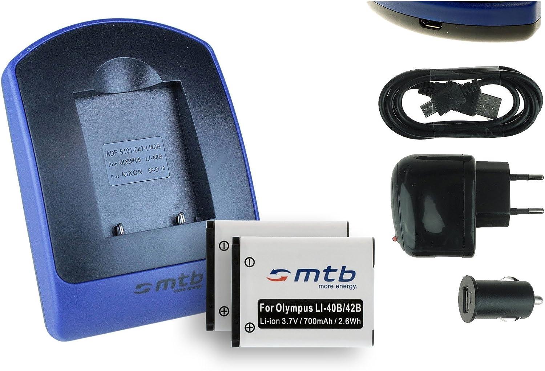 Cargador Batería Li-40B Li-42B para Olympus µ mju 770 SW 780 790 SW 820