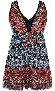 24cf8bddd2c45 DANIFY Women's Slimming Tummy Control Swimdress Plus Size Swimwear Retro  Skirt Swimming Suit