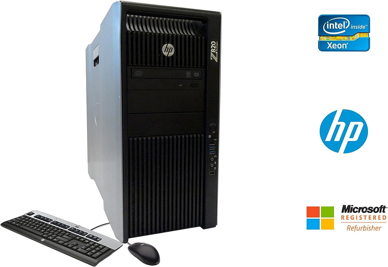 HP Z820 Workstation Xeon 16 Core 3.1GHz 128GB RAM 960GB SSD 9TB HD NVIDIA Quadro 6000 DVDRW Windows 10 Pro 64-bit
