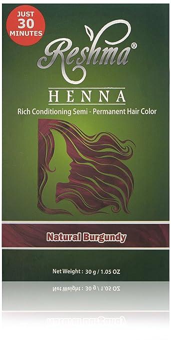 Amazon Com Reshma Beauty Natural Burgundy 30 Minute Henna Hair