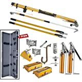 tapetech standard full drywall tool set with 2 pumps free tool case