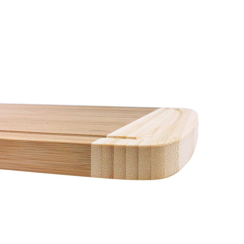 45 cm x 30 cm avec 2 Cuisson Utesils Lot woodluv Chef étagère Professionnelle en Bambou Extra ...
