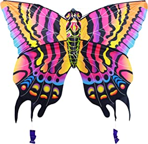 """AmaZing Kites 3D Nylon Butterfly Kite with 60"""" Wingspan (5 ft)"""