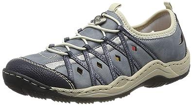 Rieker Damen L0567 14 Sneaker Blau (Pazifik Adria Royal