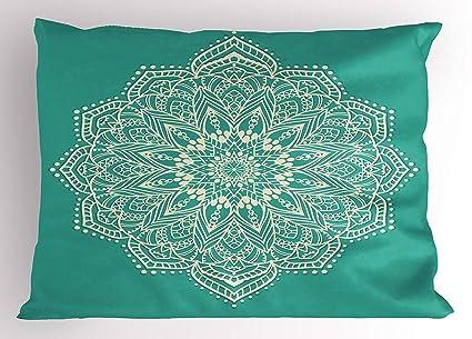 Amazon.com : Mandala Pillow Sham, Eastern Microcosm Chart ...