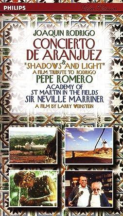 Amazon.com: Concierto De Aranjuez [VHS]: Rodrigo, Marriner ...