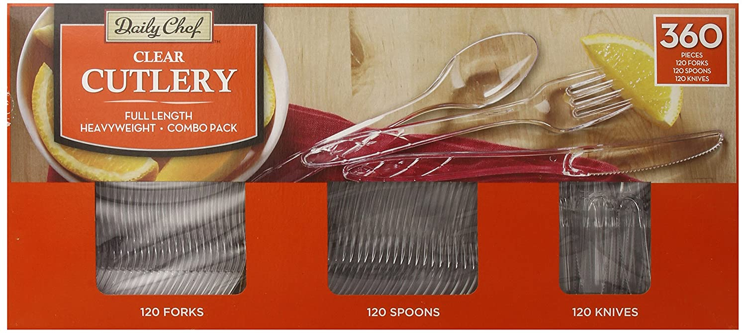 Member's Mark Clear Cutlery Combo Pack, 360 Count Member' s Mark PW-CPC-360CNSAM