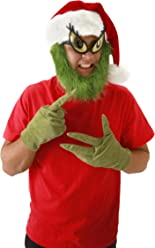 elope Dr. Seuss The Grinch Gloves Green for Adults
