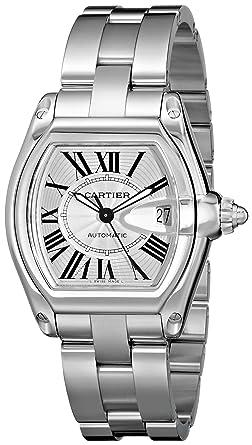 e5fecbede51 Amazon.com  Cartier Men s W62025V3 Roadster Stainless Steel ...