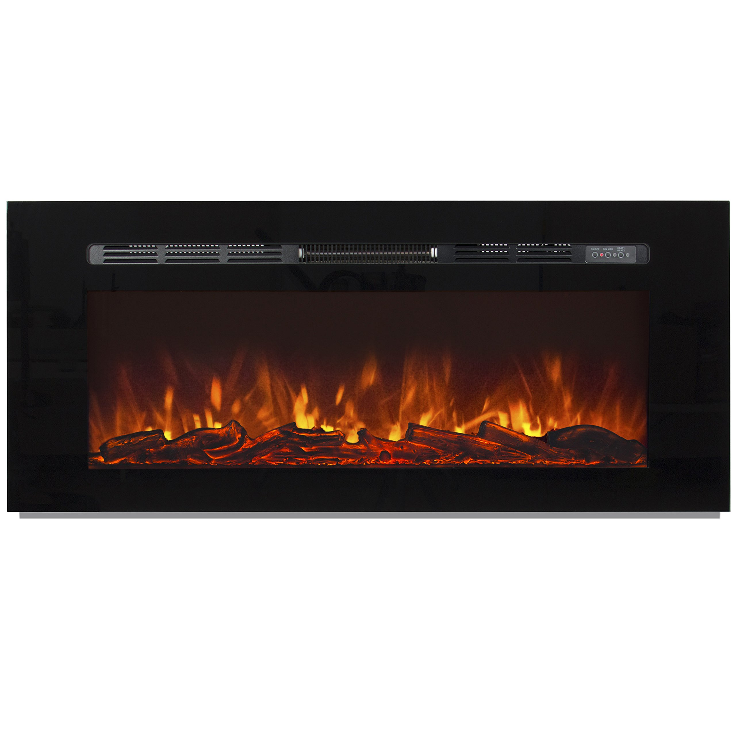 Best Choice Products 1500W 50'' Heat Adjustable In-Wall Recessed Electric Fireplace, Wall Mount Compatible W/ Remote Control