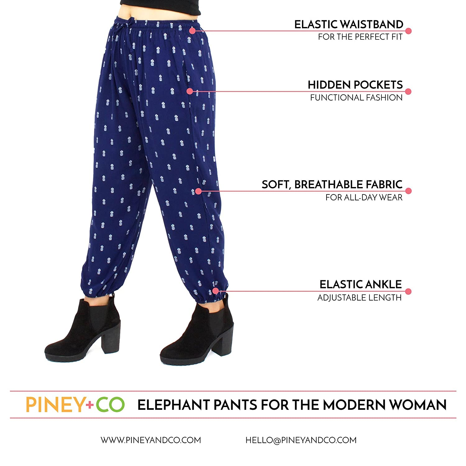 d93fded5d239e Harem Pants for Women | XS-3XL | Thai Elephant Pants | Ultra Soft Boho Pants  at Amazon Women's Clothing store: