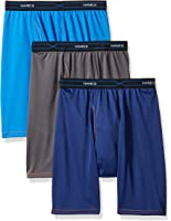 Hanes Red Label Men's 3-Pack FreshIQ X-Temp Performance Cool Long Leg Boxer Brief