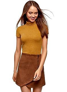 oodji Collection Womens Short Sleeve Turtleneck Top
