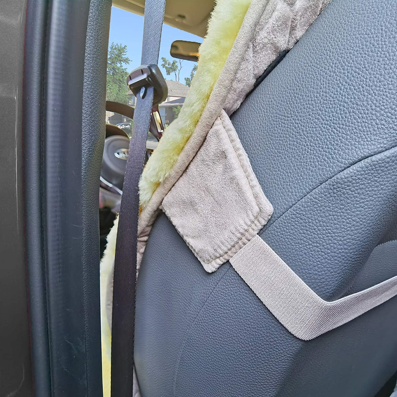 Trucks and Minivans-Premium Ultra Dense Pelt Very Easy Installation 1 Pack-Charcoal SUVs Universal Fits Most Cars Sheepskin Seat Cover Genuine Australian Sheepskin Seat Cushion Natural Pure Wool