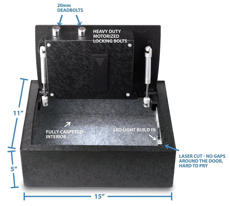 Viking seguridad VS-14BL abertura superior cajón modificables teclado LCD seguro: Amazon.es: Deportes y aire libre