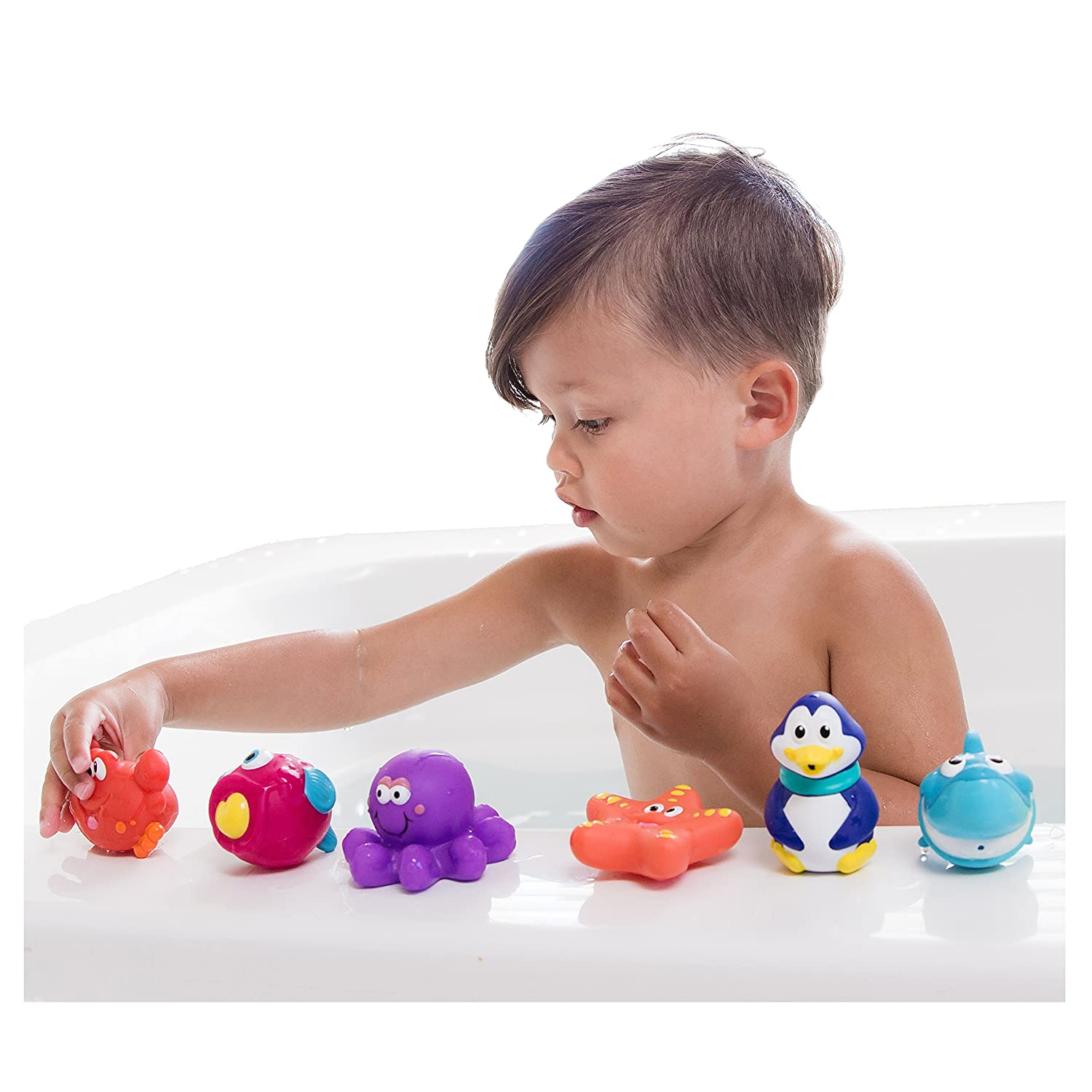 Amazon Nuby 10 Pack Little Squirts Fun Bath Toys Assorted