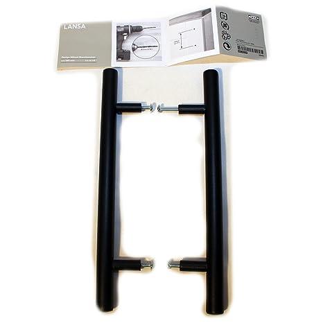 IKEA Türgriff LANSA Metall schwarz 2 Stück Länge 245 mm, 160 ...