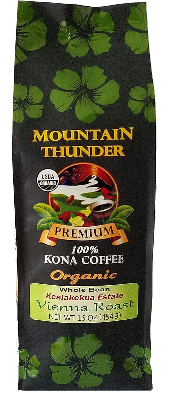 人気商品は 100% Organic 1 Kona Coffee Coffee B07GWXC2JX - Vienna Roast, Whole Bean, Kealakekua Estate, 1 Pound - Mountain Thunder Coffee Plantation B07GWXC2JX, ヴィレコ:725356ca --- svecha37.ru