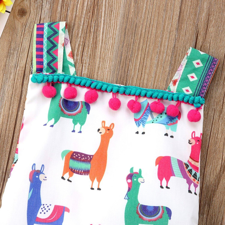 Amazon.com: Bels bebé niñas de verano lindo animales alpaca ...