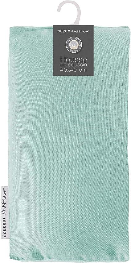 Gris//Drag/ée Encart 60 x 60 cm Coton Uni Panama Coton Coton dint/érieur Panama Housse de Coussin 60x60 cm