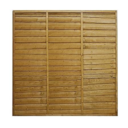 waltons est 1878 3x6 wooden fencing panels horizontal overlap
