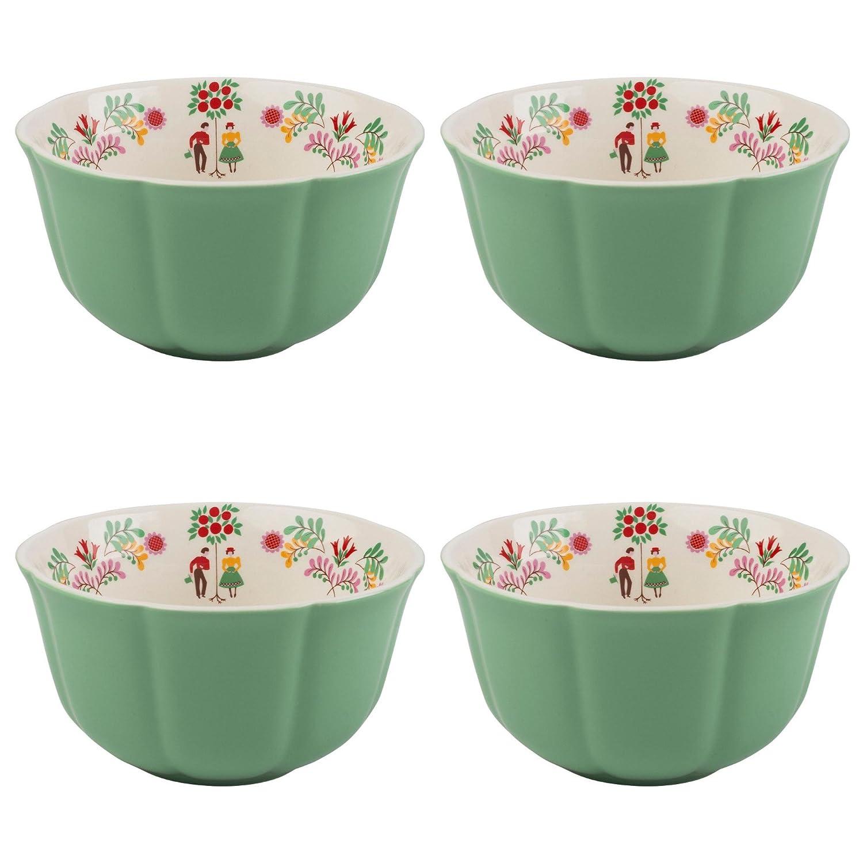 Katie Alice festival folk Cereal Bowl White-Bowl