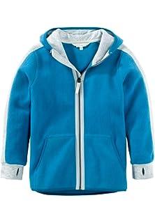 3195d4d278 hessnatur Kinder Mädchen und Jungen Unisex Fleece Jacke aus Reiner Bio- Baumwolle