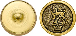 product image for C&C Metal Products 5277 Crowned Lion Metal Button, Size 36 Ligne, Antique Gold, 36-Pack