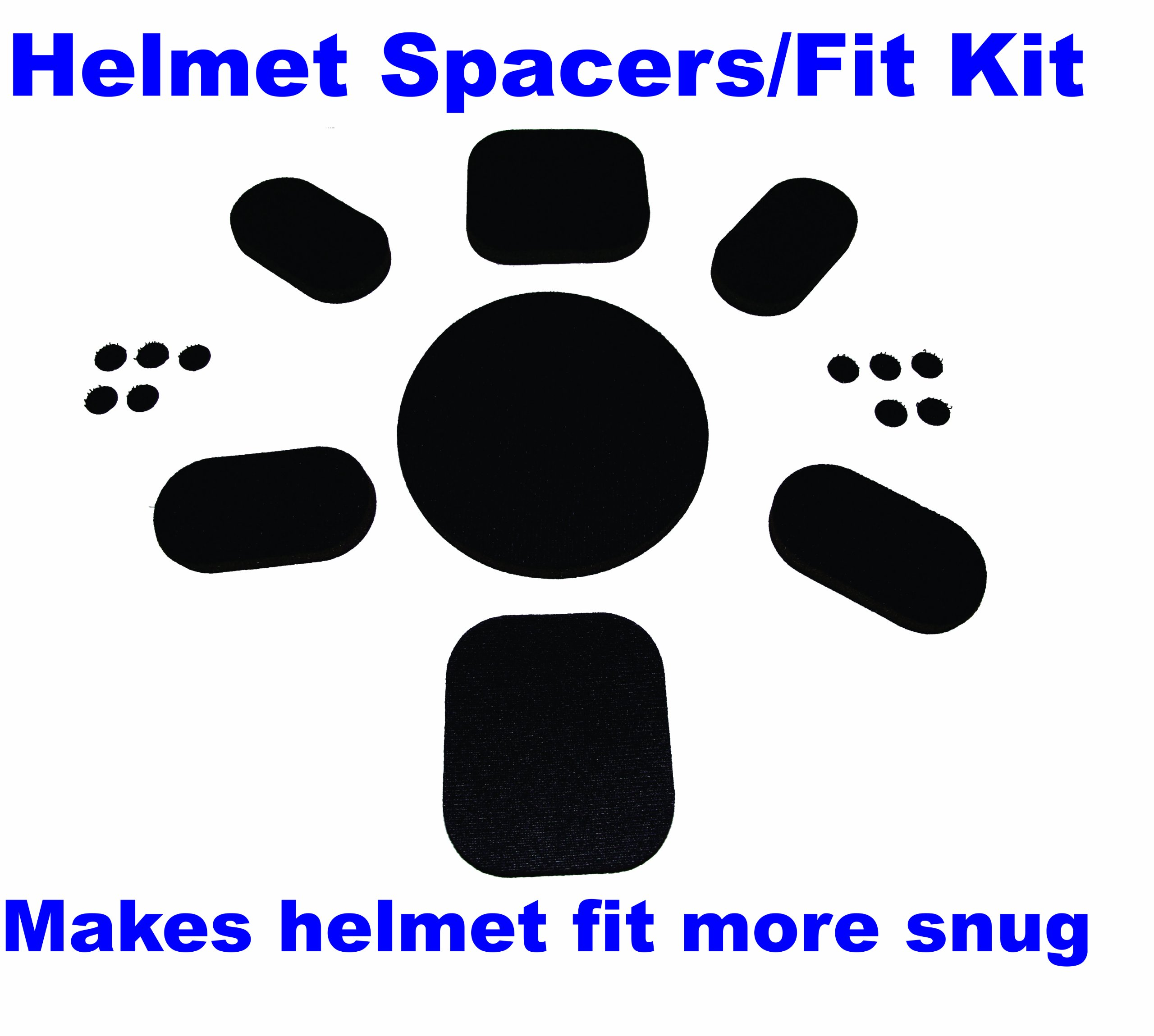 Aftermarket Upgrade Fit Kit Universal Pads for Army Ach Mich Helmet with Sticky Back Hook Side Dot Fasteners by Helmet Foam Kits (Image #1)