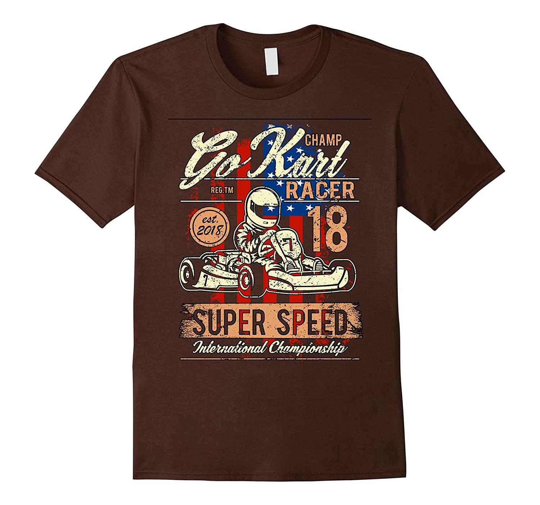 Karting T shirt Gift Race Kart T Shirt Kids & Adults Go Kart