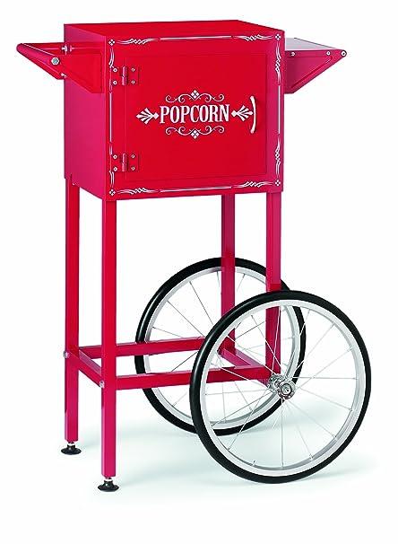 Waring wpm30tr carrito de palomitas de maíz eléctrica, color rojo
