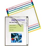 C-Line Write-On Project Folders, Heavyweight Poly, Assorted Colors, 8.5 x 11 Inches, 25 per Box (62160)