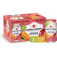 Sanpellegrino Italian Sparkling Drink, Prickly Pear and Orange, 11.15 Fluid Ounce, Cans (Pack of 6)