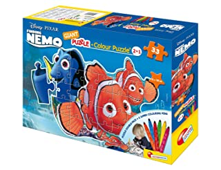 Liscianigiochi 39807 - Nemo Puzzle Gigante Sagomato Con Pennarelli 33 Pezzi Liscianigiochi Italy