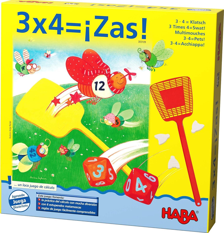 HABA 3 x 4=¡Zas-ESP (303109): Amazon.es: Juguetes y juegos