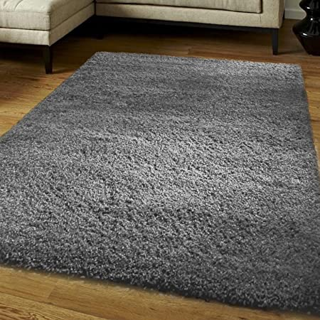 Think-Louder Luxury Shaggy Rug Runner Non Shed Carpet Thick & Soft in With Non Slip Gripper Underlay - DARK GREY120X170 CM: Amazon.co.uk: DIY & Tools