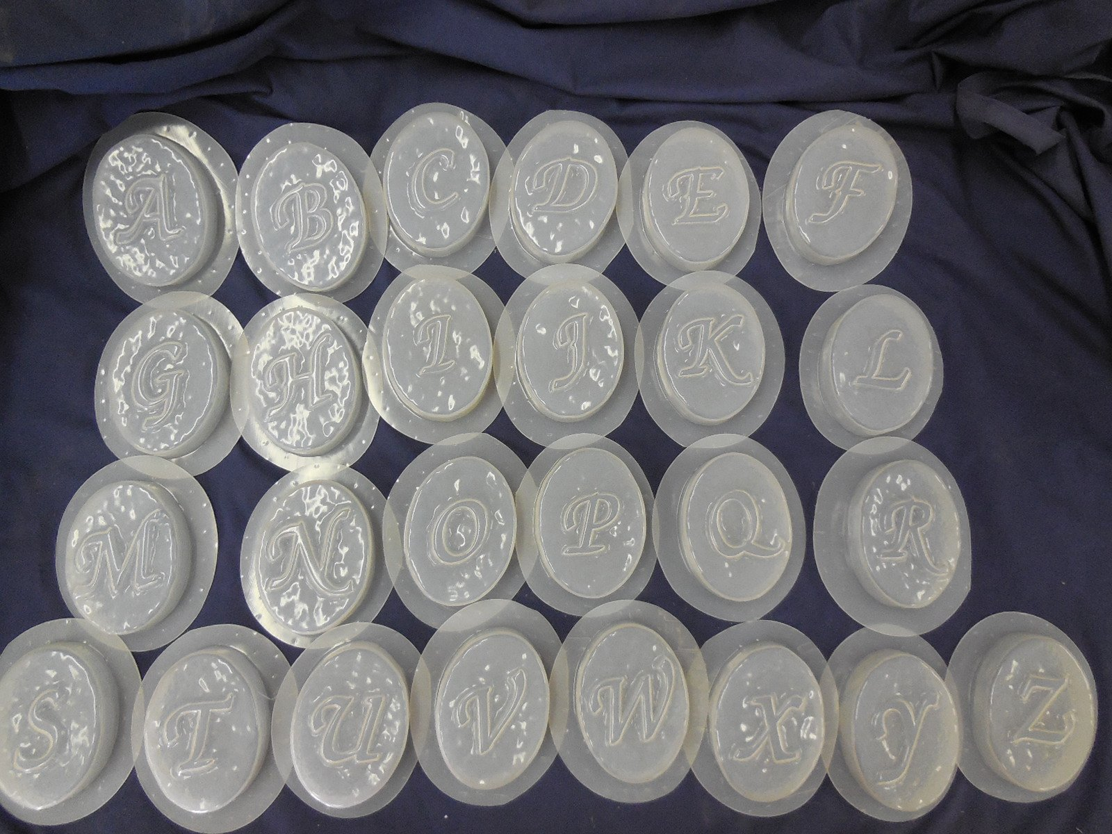 A-Z Monogram Alphabet Letter Soap Mold Set of 26 4709 by Mold Creations