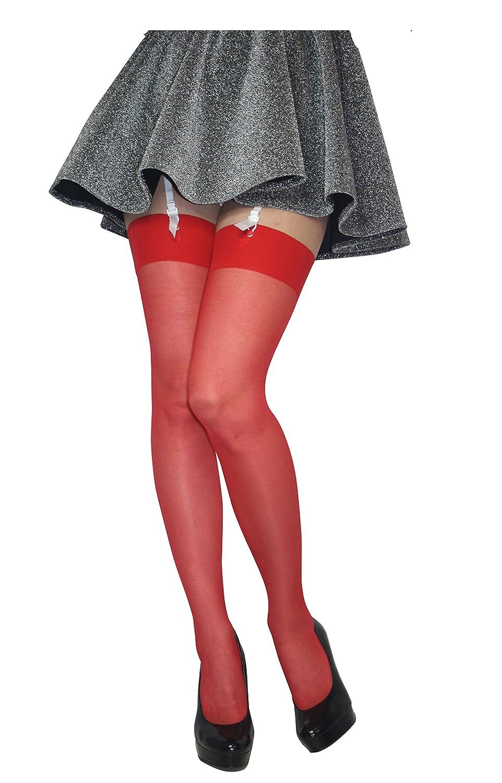 58a0a1f03 Plain Top Sheer Stockings Regular Size   Plus Size 17 Denier New