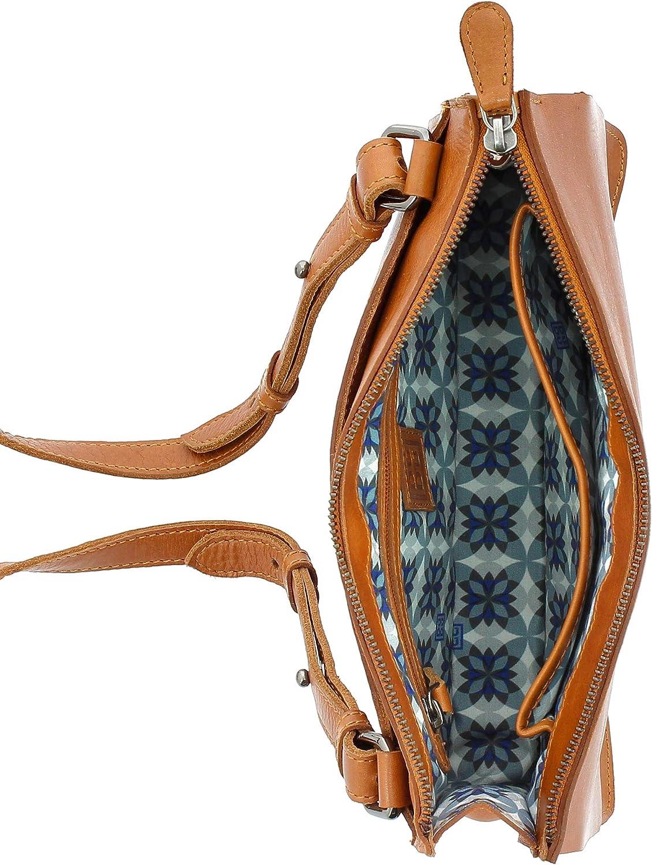 DUDU Small Shoulder Bag Cross Body Handbag in soft Leather Elegant with Zipper and Studs