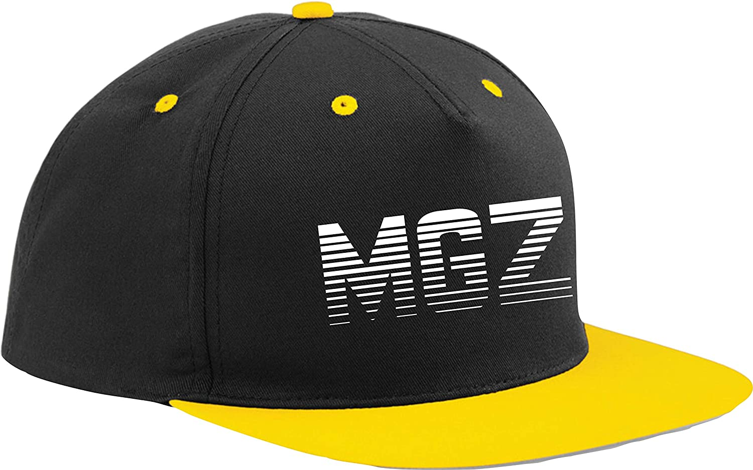 Black Cap//Grey Peak Bothered Morgz Snapback Baseball Cap