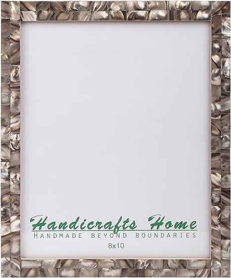 Handicrafts Home 4x6 Cornici per Foto Chic Cornice Foto Madreperla Fatta A Mano Vintage Verde 4x6