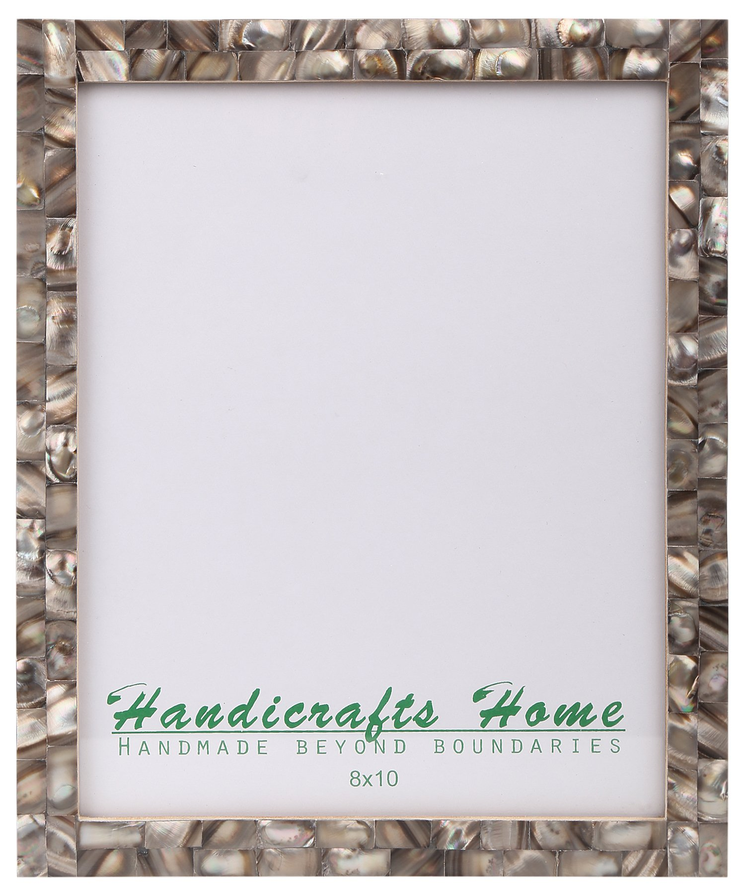 8x10 Picture Frames Chic Photo Frame Mother of Pearl Handmade Vintage from Handicrafts Home (8x10, Grey)