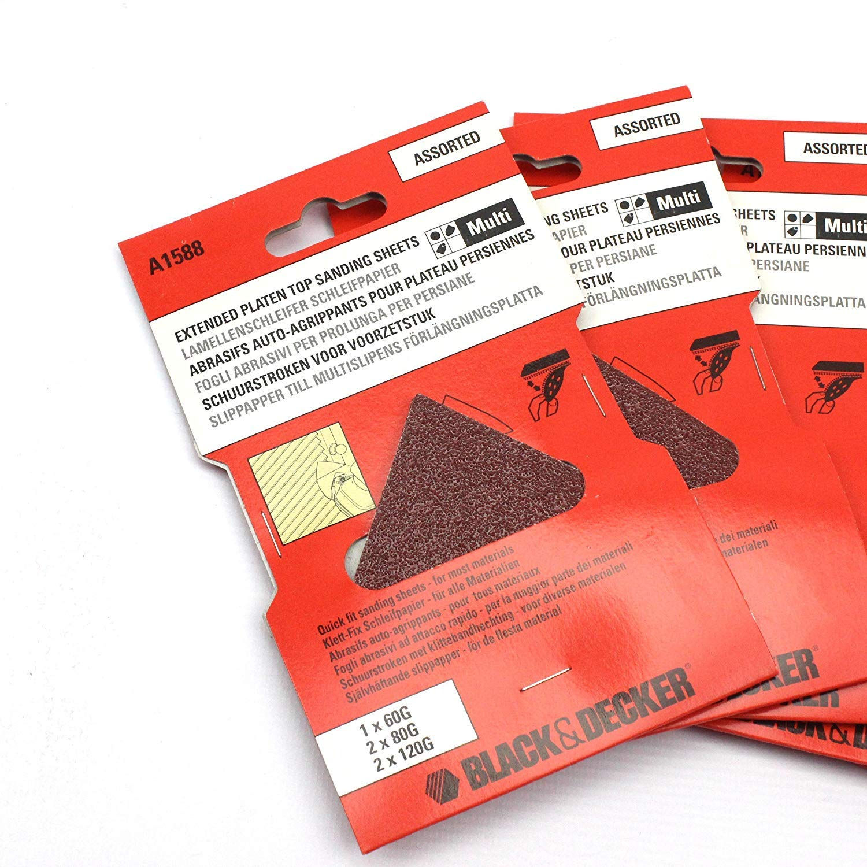 25 BLACK /& DECKER A1588 Multi Sander Sheets for Extension Plate KA220 KA225