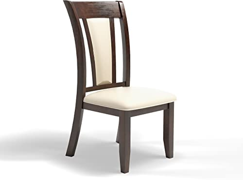 Furniture of America Dalcroze Modern Dining Chair, Ivory Fabric, Set of 2