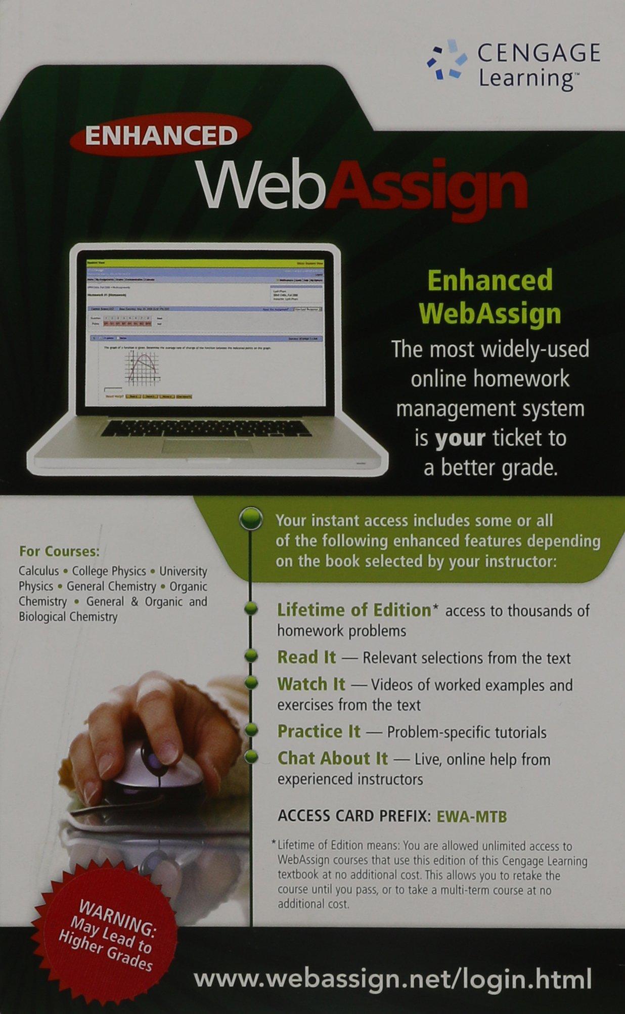 Enhanced webassign cengage learning 9780538738118 amazon books fandeluxe Images