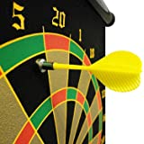 Tavakkal High Magnetic Power with Double Faced Portable and Foldable Dart Game with 6 Pointed Darts 15Inch (Multicolour)