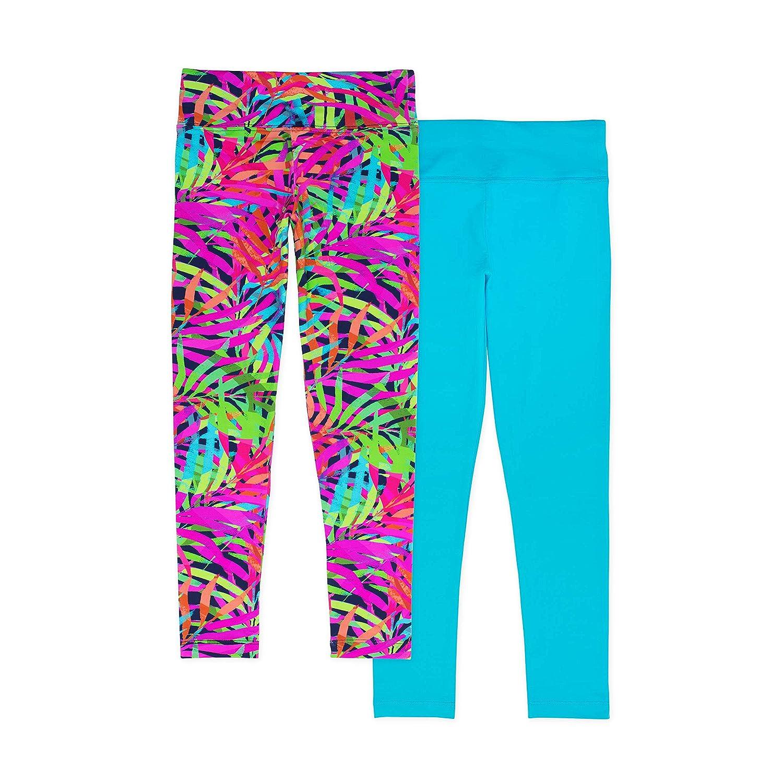 Lucky /& Me 2-Pack Full Length for Gymnastics /& Dancewear Madisyn Girls Athletic Leggings Wide Waistband Tagless
