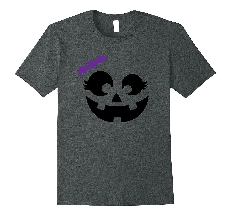 Halloween Pumpkin Shirt | Cute Girl's Costume Tee Gift Idea-T-Shirt