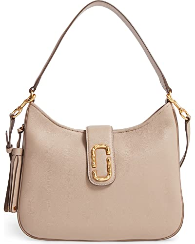 47c6e64eb2f Amazon.com: Marc Jacobs Interlock Leather Medium Hobo Shoulder Bag, Taupe:  Shoes