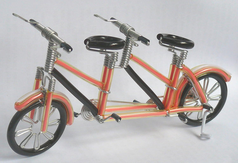 Amazon.com: Unique Metal Crafts Gift Art Road Tandem LOVE Bike Model ...
